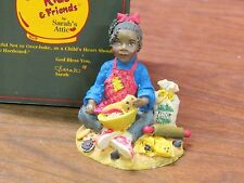 Sarah'S Attic ~Cookie Kids & Friends Sign ~Sugar-Girl / Baking #70003 Ltd Edison