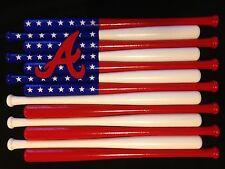 Atlanta Braves Custom Baseball Bat Flag  (Choose Team And Colors)
