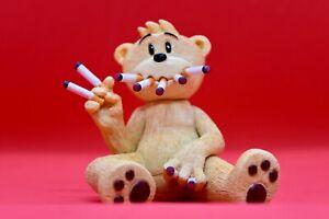 Bad Taste Bears - Benson - Rare Funny Vintage Collectible BTB Figurine Smoking
