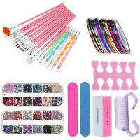 UV Gel Nail Art Design Set Dotting Painting Drawing Polish Brush Pen Tools 2020