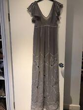 Seraphine Luxe Grey Silk Chiffon Maternity Evening Gown - USA 4/UK 6 - BNWT