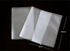20X Clear Plastic Credit Debit ID Card Holder Sleeves Soft Case Cover ProtectorH