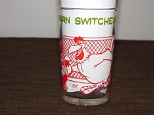 "Vintage 1974 4 1/4"" High Warner Bros Foghorn Switches Egg Drinking Glass New"
