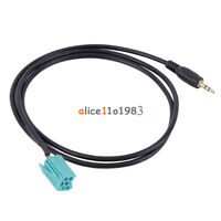 3.5mm Jack Aux Input Adapter Audio Cable For Renault Clio Megane 2005-2011 D#