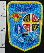 "MARYLAND, BALTIMORE COUNTY FIRE DEPT SMALL 3.25"" PATCH"