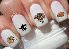 New Orleans Saints Nail Art Stickers Transfers Decals Set of 44