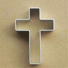 3D Cross Anodized Cookie Biscuit Cutter Stamper Fondant Cake Decorating Tool HA2