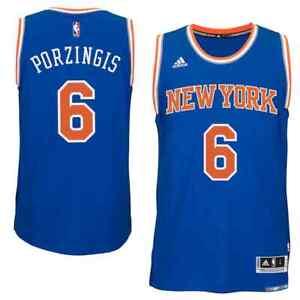 💯% Genuine Kristaps Porzingis New York Knicks adidas Jersey - Royal Small