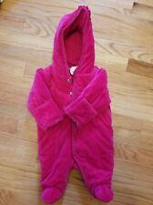 Ralph Lauren Baby Girls Velvet Quilted Fleece Lined Jacket/Coat/Snow Suit  Sz 3m