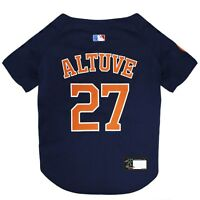 JOSE ALTUVE #27 Houston Astros MLBPA Officially Licensed Dog Jersey, Navy