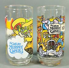 The Great Muppet Caper 1981 McDonald's Glasses ~ Happiness Hotel & Kermit Fozzie