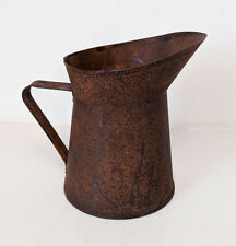 Small Antique Metal Pitcher - Rusted - Great Look