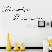 """ DREAM until your DREAMS come true"" inspirational quote wall art decal"