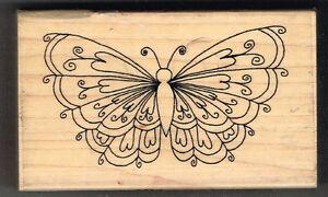 Schmetterling INCA STAMPS Holzstempel - 9 X 5.5 CM Ca.