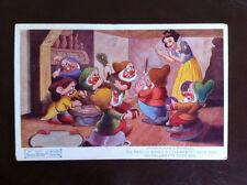 Walt Disney's Snow White & The Seven Dwarfs Original Valentine's Postcard 1930's