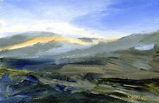 Scottish Highlands POSTCARD Landscape Painting Steve Greaves Art Card Scene