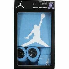Nike AIR JORDAN Jumpman23 Baby 3-piece Outfit Gift Set Blue, 0-6 months
