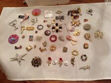 Estate Beautiful Brooch Pin Lot Over 50 Vintage Pieces Some Signed, Some TLC