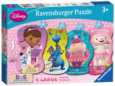 RAVENSBURGER JIGSAW PUZZLE Disney Doc McStuffins 4-IN-A-BOX 10, 12, 14, 16 PCS)