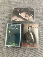 Lot Of 3 Steve Winwood Cassette Tapes Roll With It Back In The High Life