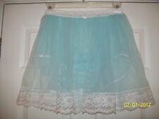 "BLUE Sheer Nylon SLIP & MEN'S SLEEVE PANTY * 29-36"" Waist * Length 18"""