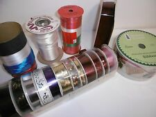 Mixed Lot Craft Ribbon Material, Bow Material, Most Rolls Full /Nearly Full B26