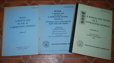 Wood A Manual For Its Use As A Shipbuilding Material Volumes I, III, IV Navy