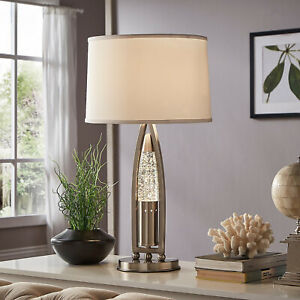 Hinsdale Nickel Finish Dancing Water Table Lamp By INSPIRE Q Bold