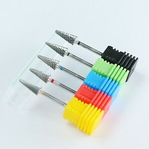 Nail drill Bit Carbide Spike Tungsten Gel Acryl Take Off For Rotary Drill 3/32''