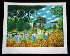 "1980s Hawaii Lithograph Print 223/300 ""Kona Wedding"" by Guy Buffet (Lol)"