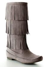 Women's Suede Fringe Boots | eBay