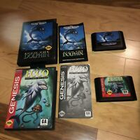 ECCO THE DOLPHIN 2 Game LOT 1&Tides Of Time Sega Genesis Complete CIB TESTED