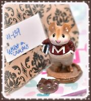 ❤️Wee Forest Folk M-139 Mouse on Campus Maroon Red College Books WFF RETIRED❤️