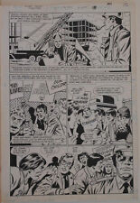GEORGE TUSKA / PABLO MARCOS original art,SECRET ORIGINS FIRESTORM 4 pg 18,11x16 Comic Art