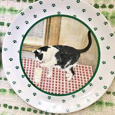 Vintage 1984 Lowell Herrero Vandor Cat Plate Black & White Cat Milk Japan