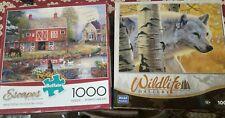 2 Puzzle 1000 Pieces Each Lot