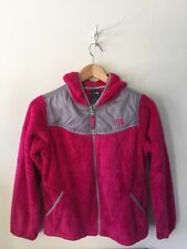 THE NORTH FACE DENALI OSITO FLEECE PINK ZIP HOODED JACKET GIRLS SIZE LARGE