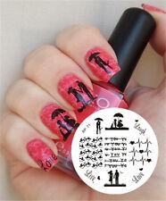 Liebe Thema Nail Art Stamping Schablonen Image Plate BORN PRETTY BP71