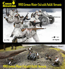 Caesar Miniatures 1/72 WWII German Winter Unit with Pak36 / Servants # 097