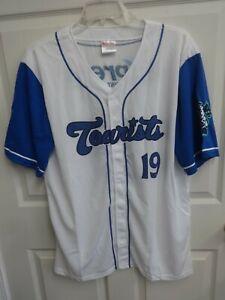 2019 MiLB Asheville Tourists SGA Button Front Baseball Jersey Men 2XL White Blue