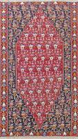 Top Quality Vegetable Dye Geometric 4x6 Wool Senneh Kilim Oriental Rug