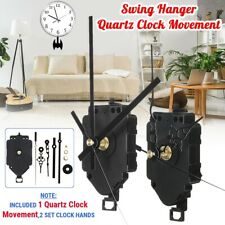 Quartz Complete Pendulum Swing Clock Drive Unit Movement Mechanism & Metal Hands