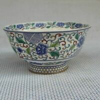 Chinese old  porcelain Blue and White Bowl Chinese meal bowl