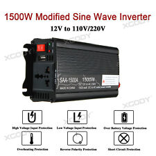 Car Power Inverter 1500/3000W 12V DC to 220V AC Converter USB Battery Charger