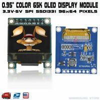 "0.95"" inch SPI FULL Color OLED Display Module SSD1331 96x64 for Arduino RGB"