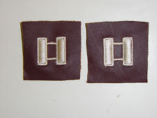 b5303p US Army Air Force AAF Captain  Rank leather pair B3D3