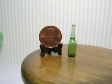 Miniature Dollhouse Green Glass Beer Bottle