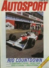 AUTOSPORT 31st MARZO 1988 * f1 Guida & LANCIA DELTA HF INTEGRALE & BTCC & F 3 *