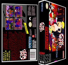 Cool World - SNES Reproduction Art Case/Box No Game.