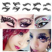 Halloween Party Temporary Eye Tattoo Eyeshadow Eyeliner Transfer Sticker Makeup